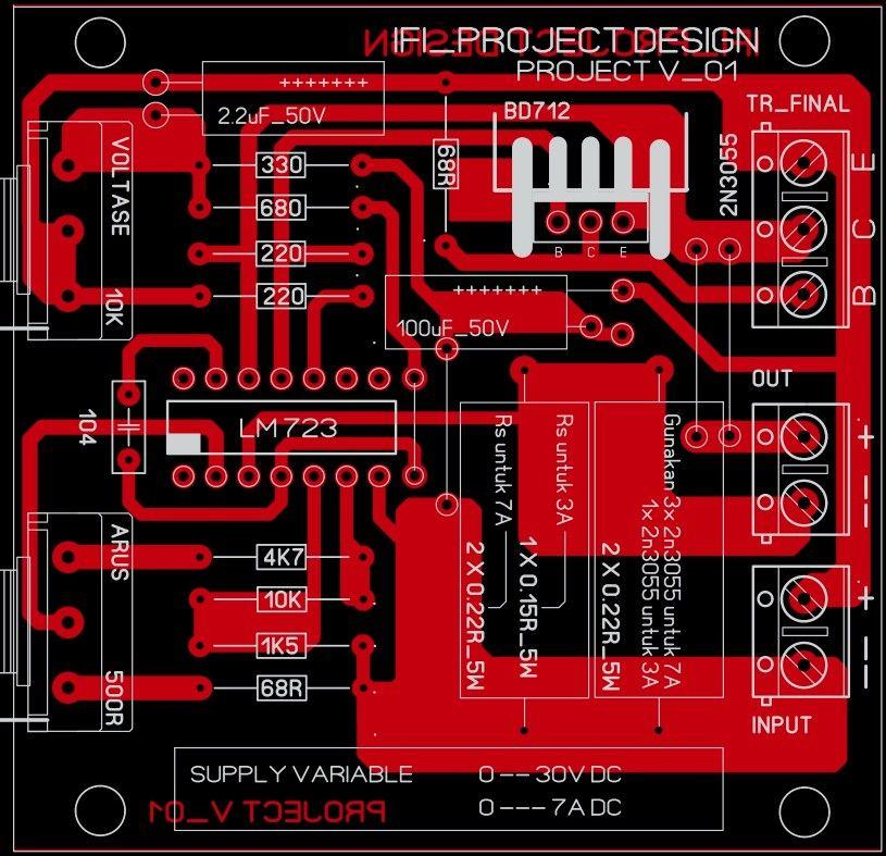 Lm 723 Variable Voltage Current Teknologi