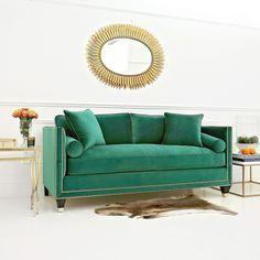 Modern sofas ideas| green velvet sofa| bocadolobo.com | #sofa #sofasideas #modernsofa #livingroom