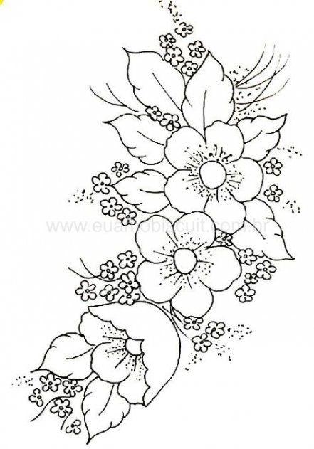 Flowers Drawing Simple Corner 40 Best Ideas Embroidery Designs Embroidery Flowers Hand Embroidery Patterns