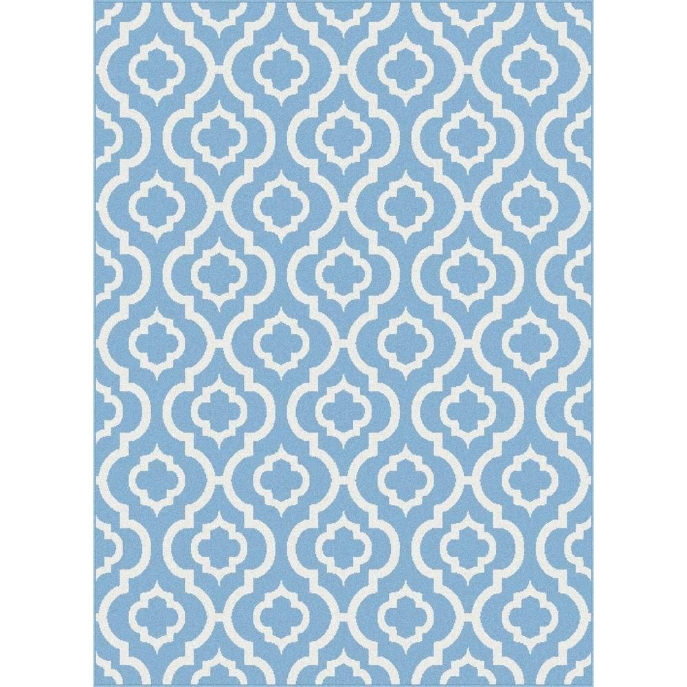 Tayse Rugs Metro Blue 5 ft. 3 in. x 7 ft. 3 in. Contemporary Area Rug-1021 Blue 5x8 at The Home Depot