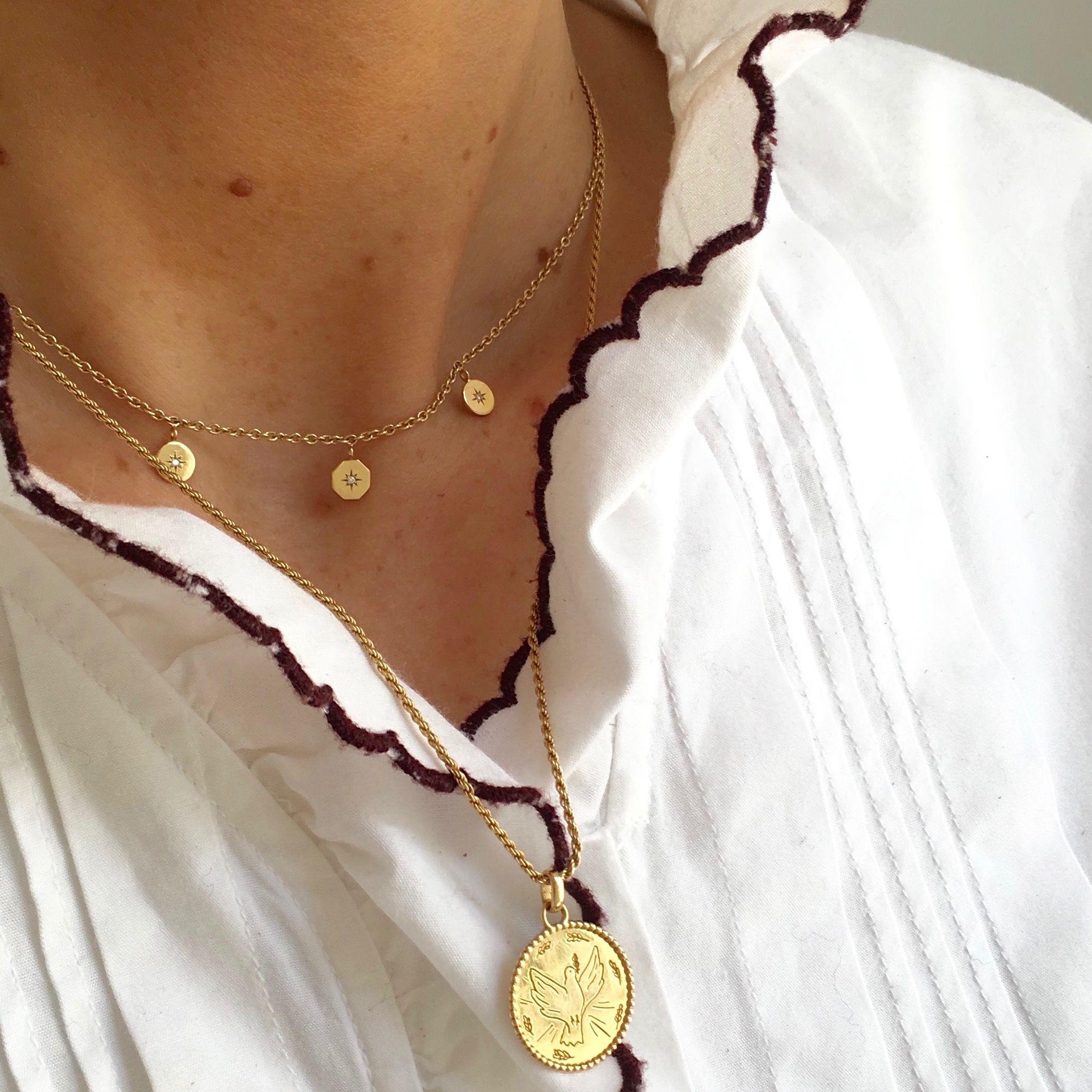 collier en or 18 carats femme