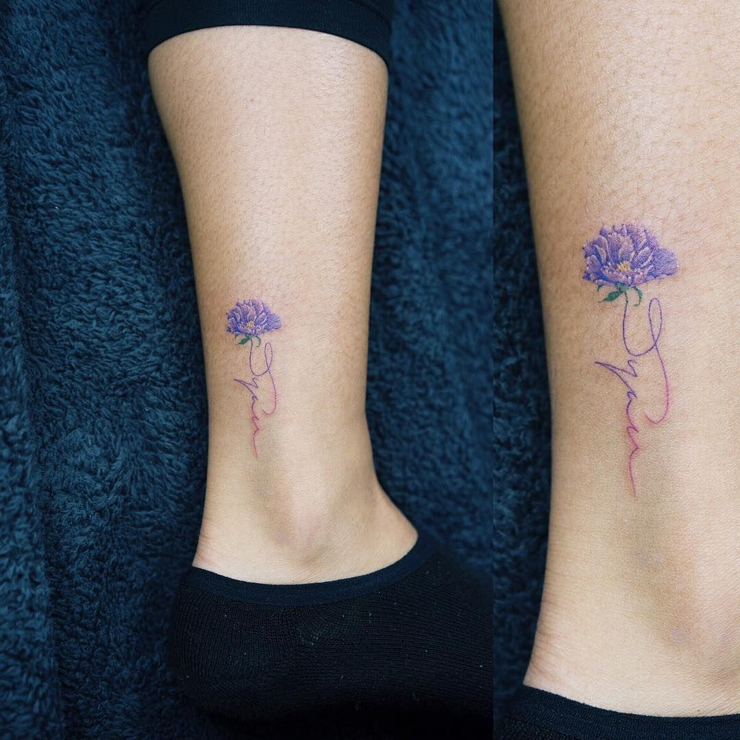 colortattoo flowertattoo flower tattoo ideas pinterest flower tattoo and tatoo. Black Bedroom Furniture Sets. Home Design Ideas