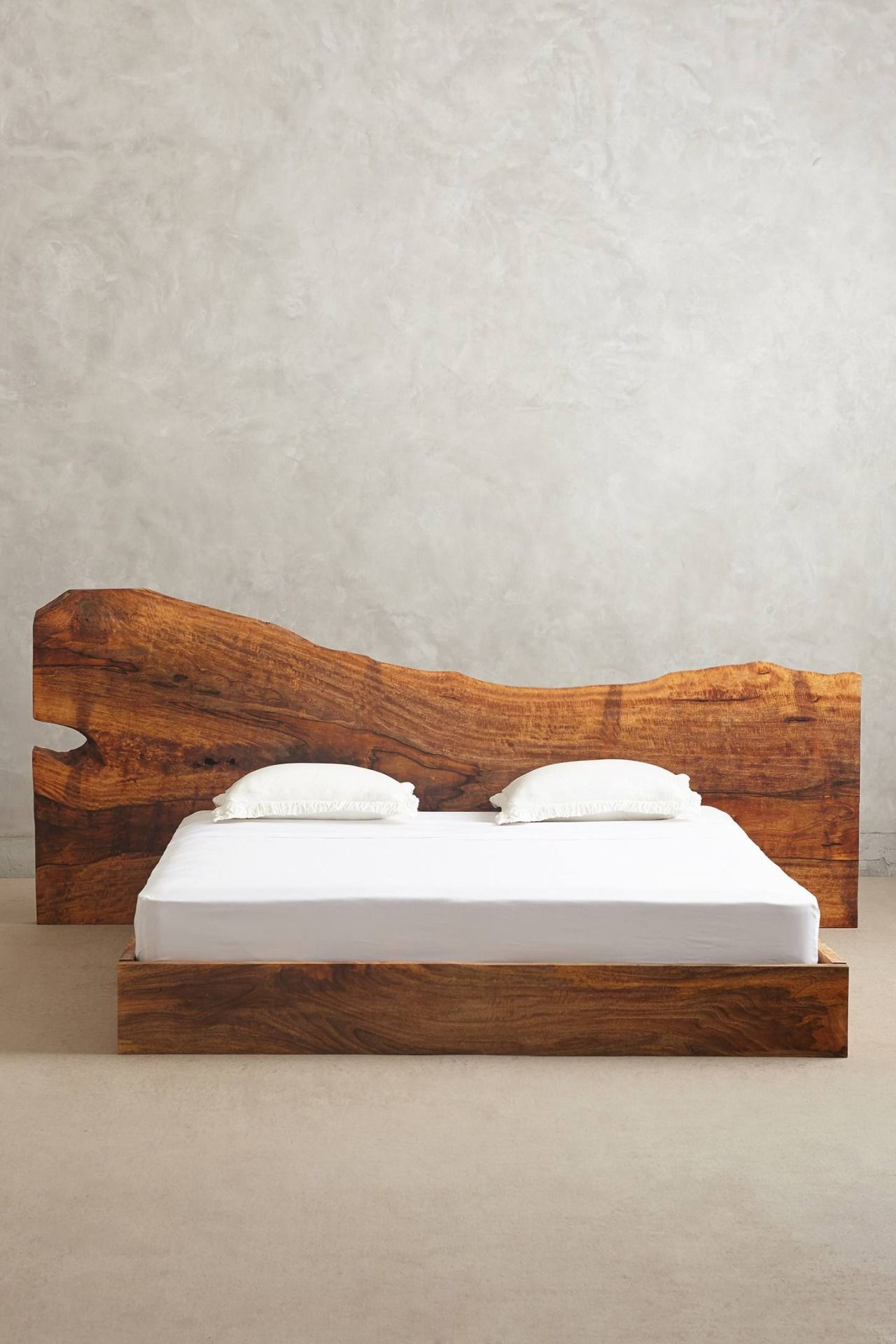 Live Edge Wood King Bed Solid Wood Bed Wood Beds Wood Bed Frame