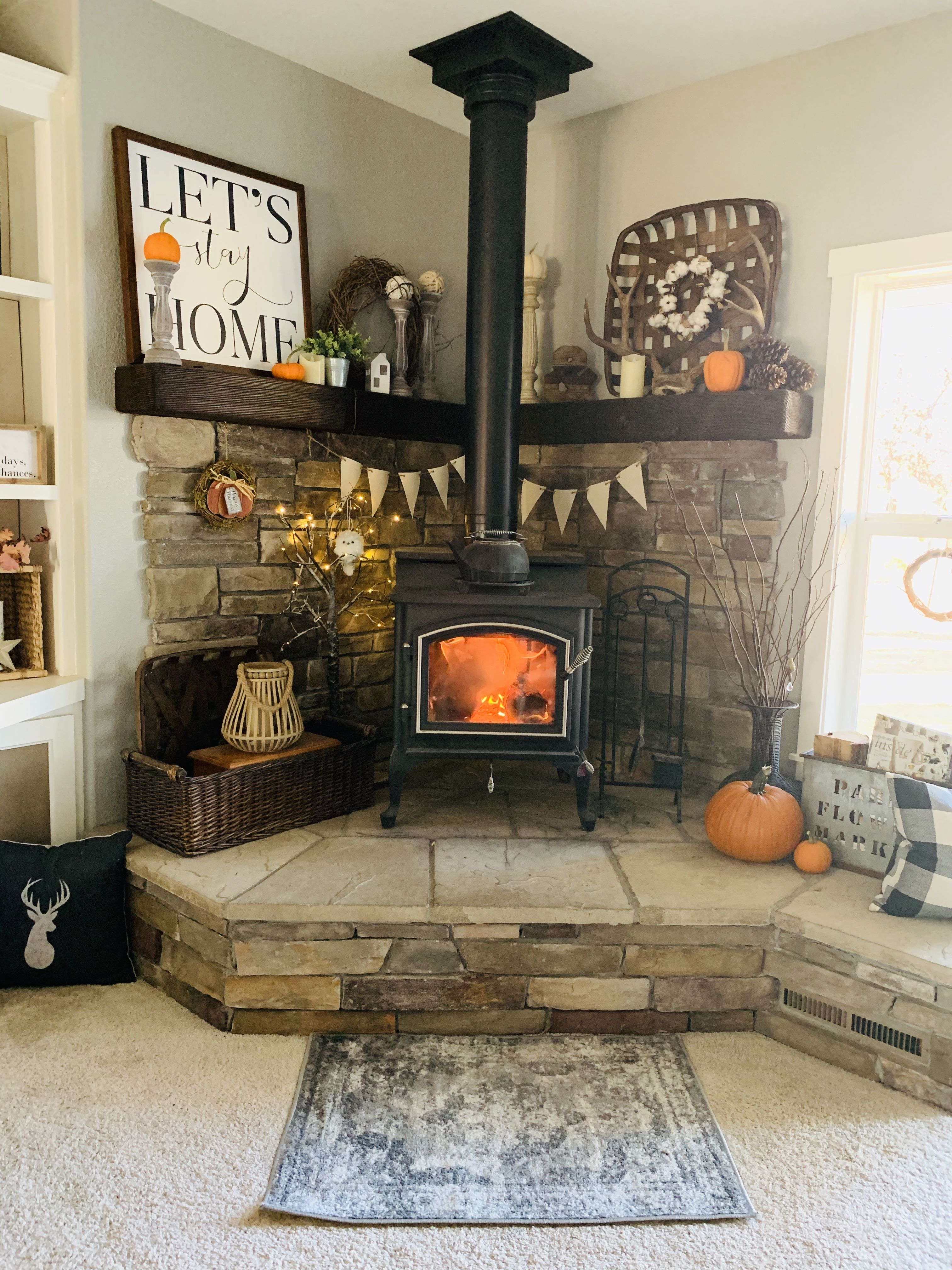 Wood Stove Mantle Wood Burning Stoves Living Room Wood Stove Decor Farm House Living Room