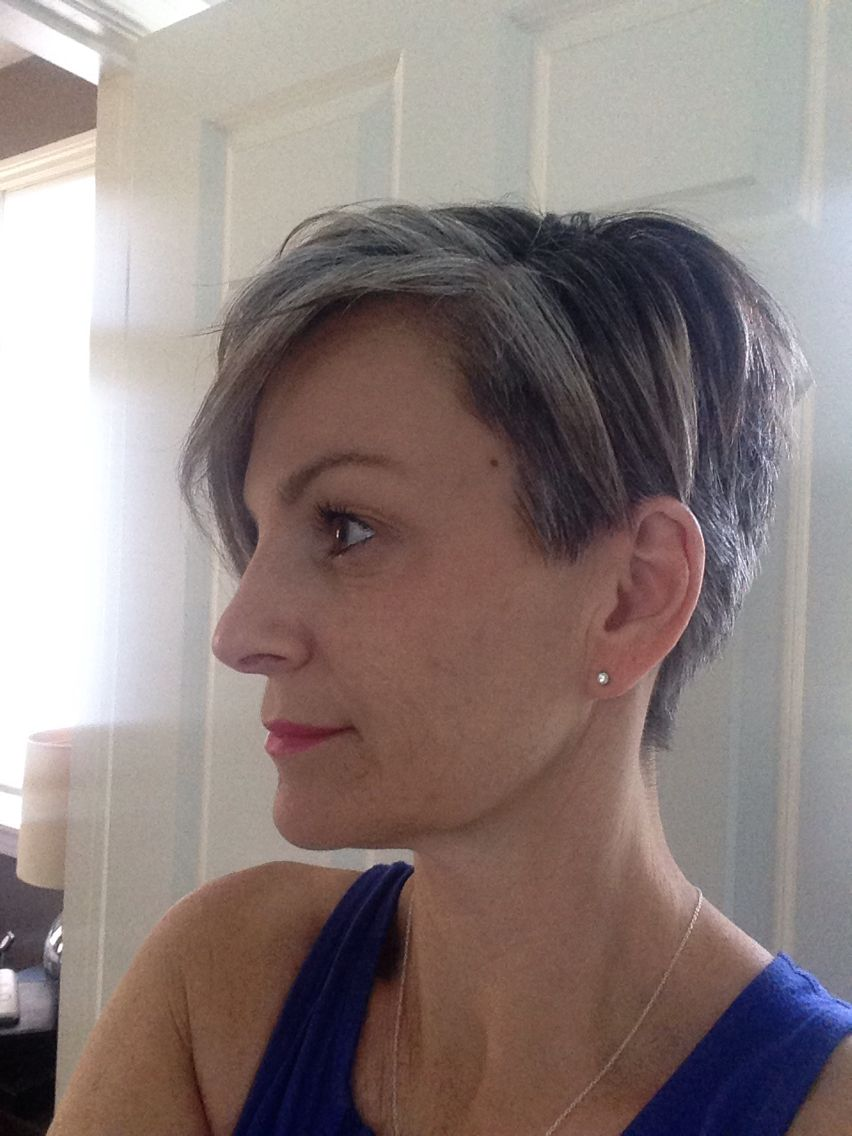 Pin on Growing out my silver hair!