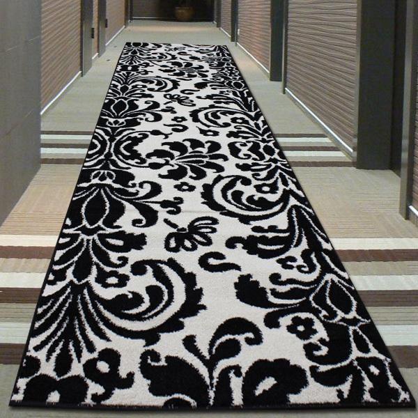 Damask Runner Damask Decor Black And White Carpet White Carpet
