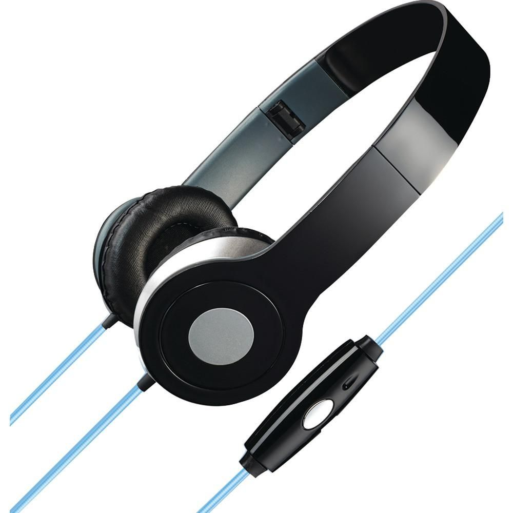 172084f97e6 Ilive Stereo Designer Headphones With Microphone & Glowing Cable (black)