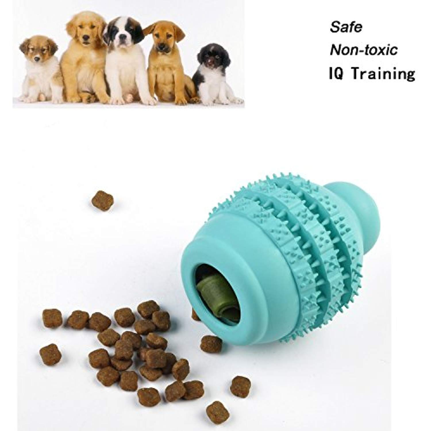 Dog Treat Ball For Iq Training And Food Dispensing Chew Toy For