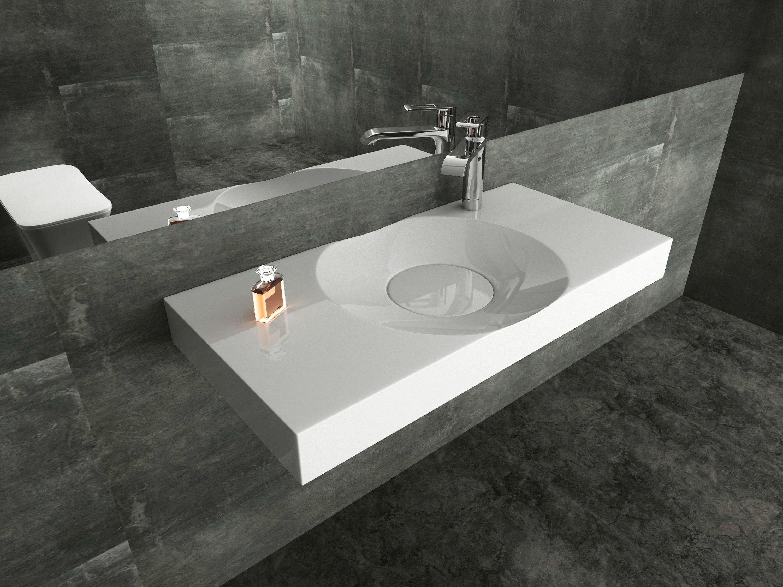 Wandwaschbecken Aufsatzwaschbecken Bs6059 In Weiss 100 X 48 X 10 Cm Badewelt Waschbecken Wandwaschbecken