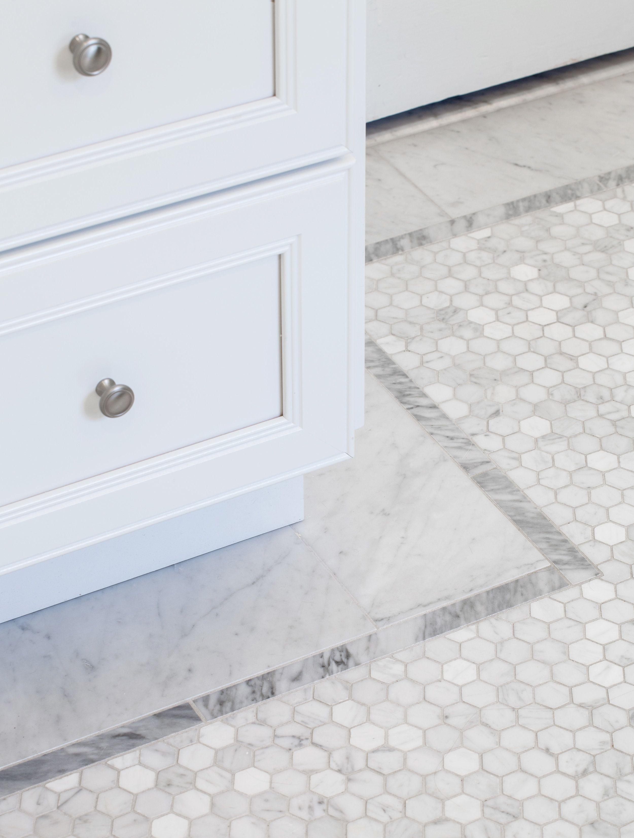 carrera hexagon mosaic floor border