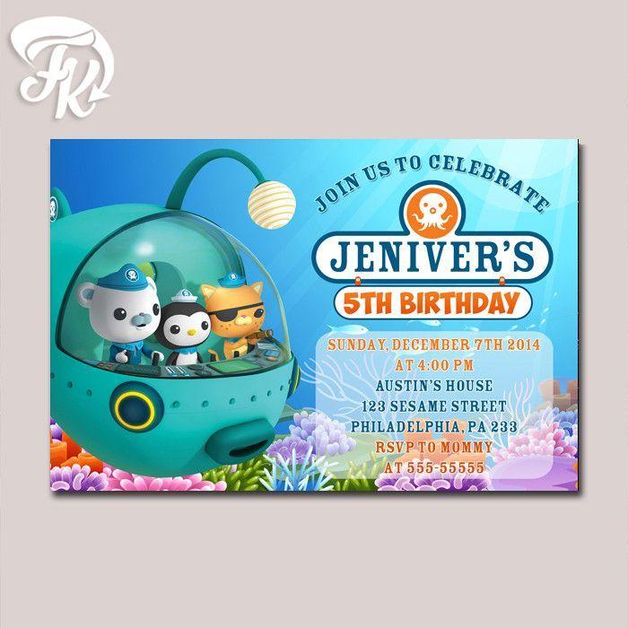 Octonauts Bithday Party Card Digital Invitation