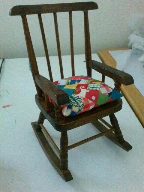 doll's rocking chair cushion