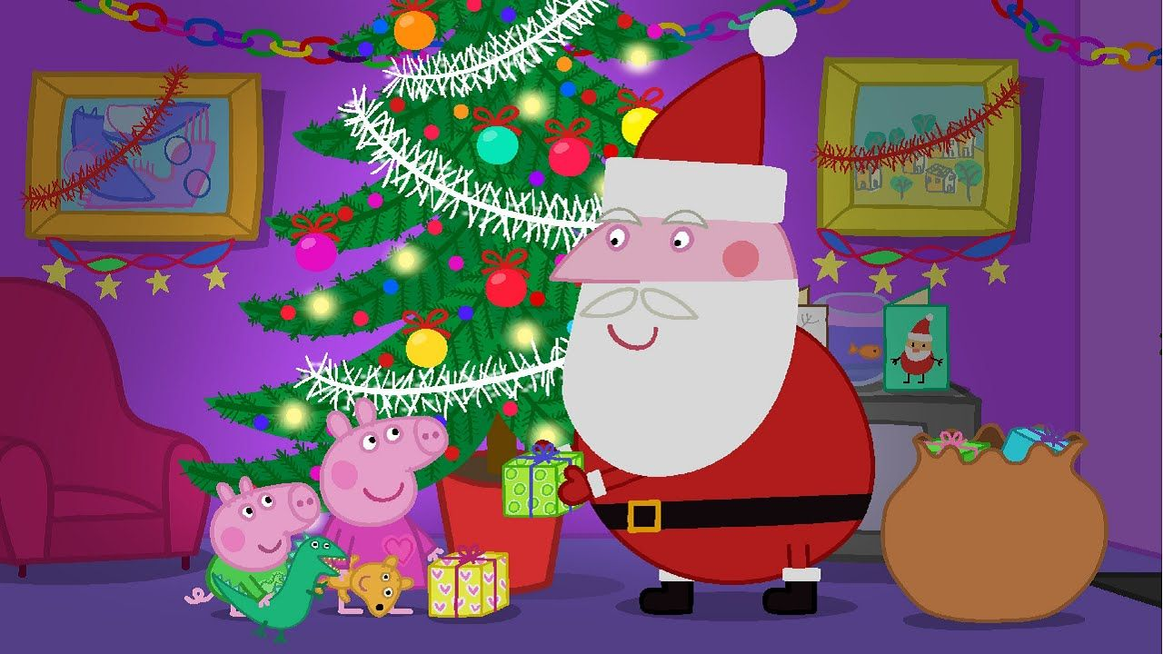 Desenho Familia Peppa Pig no Natal em Português 2015