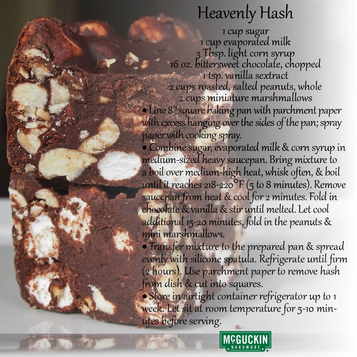 February 2nd is National Heavenly Hash Day! www.mcguckiin
