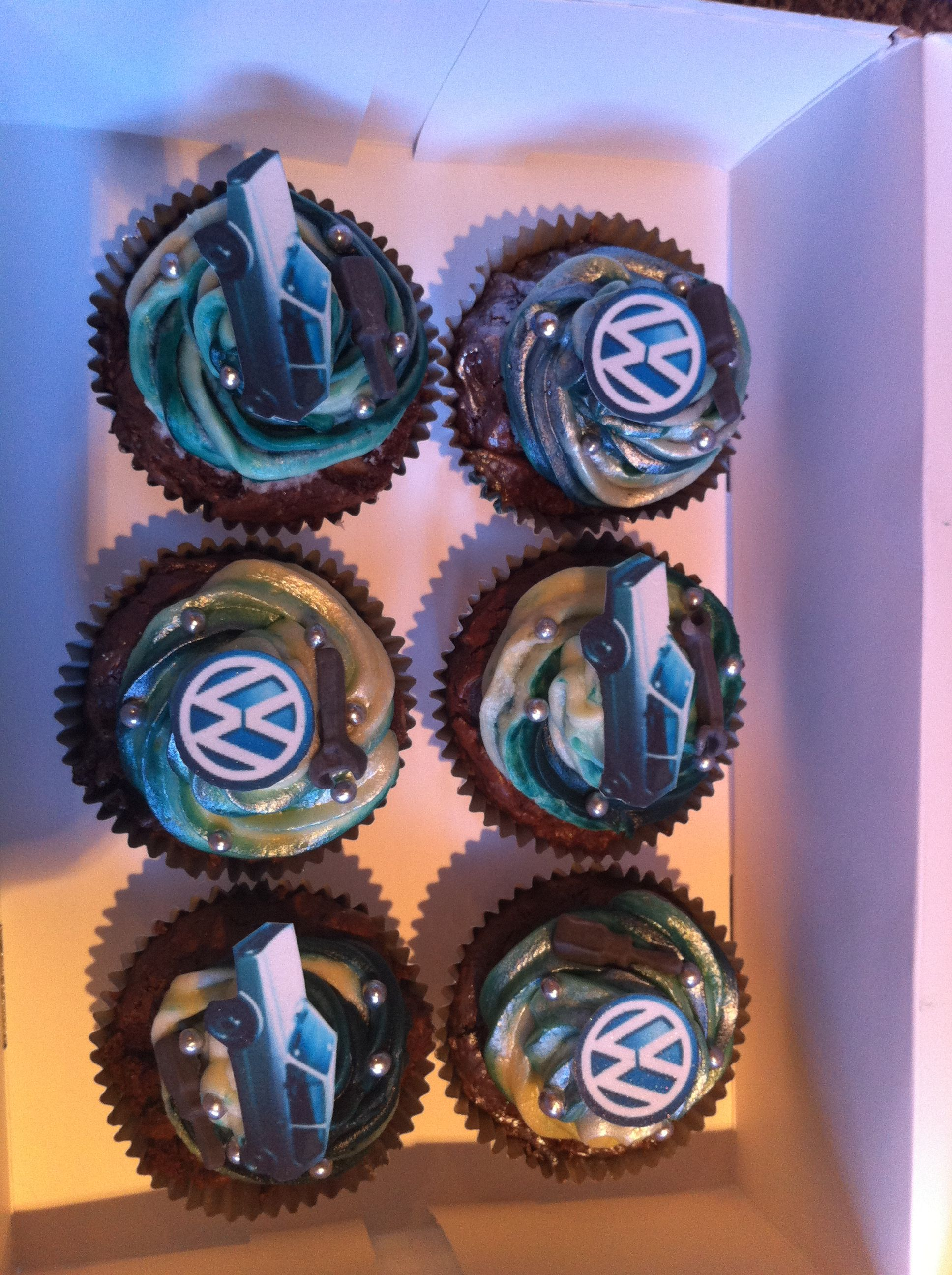 VW Golf cupcakes I made for my boyfriends birthday Chocolate