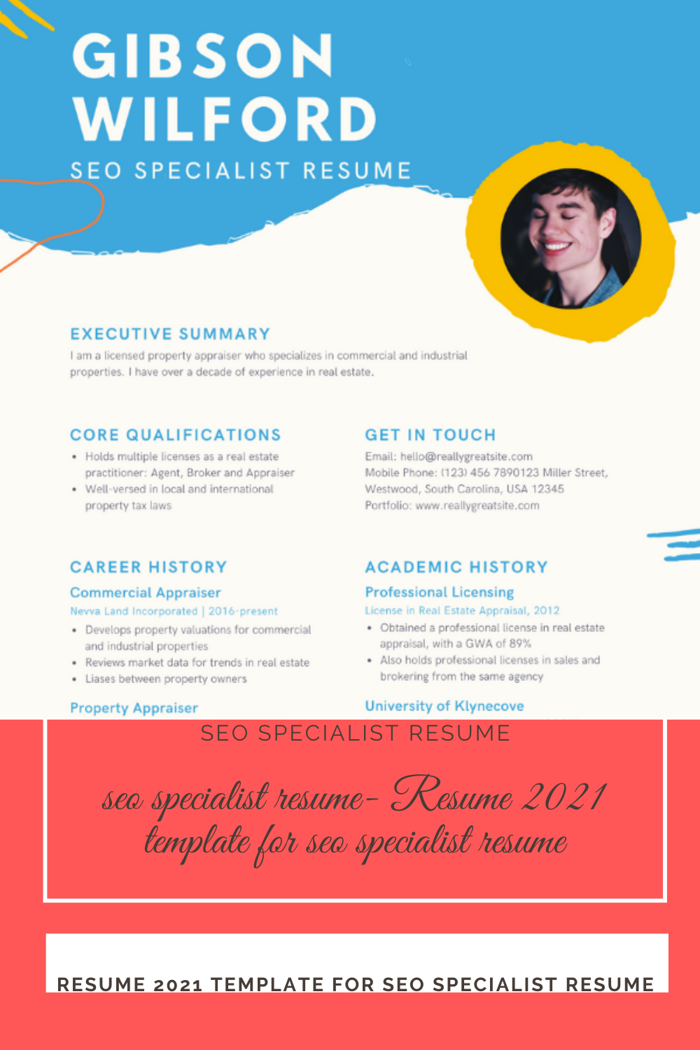 Seo Specialist Resume Resume 2021 Template For Seo Specialist Resume In 2021 Resume Seo Specialist Resume Template