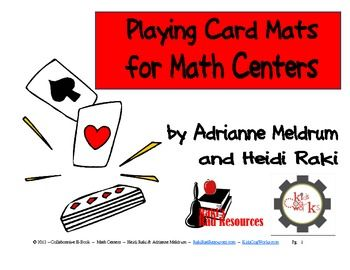 Here's a packet with a number of playing card mats for primary and intermediate grades.