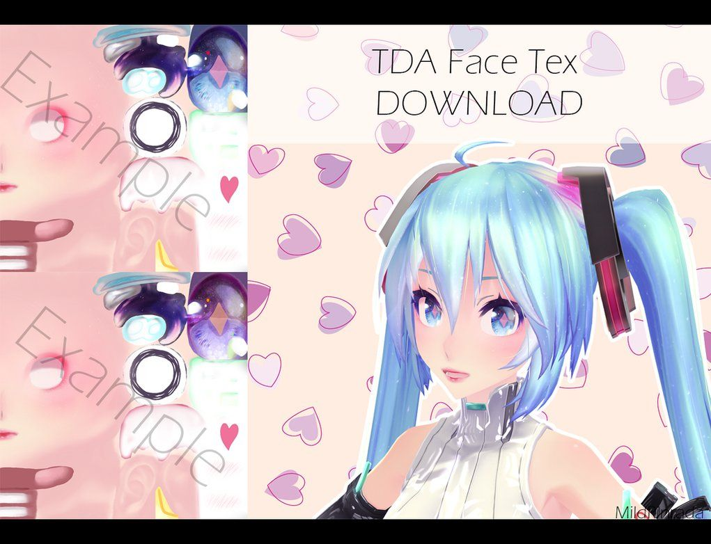 Mmd Download Tda Face Tex By Mildrinrada Mmd Models Pinterest