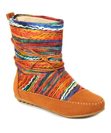 This Tan Yarn Mid-Calf Boot is perfect! #zulilyfinds