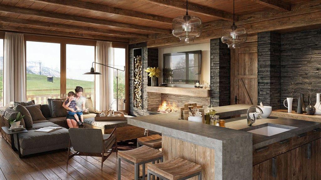 I like the finishes and the fireplace Home Interiors I Like
