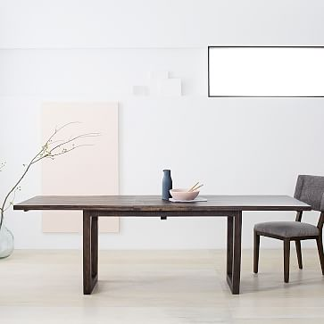 Logan Industrial Expandable Dining Table By West Elm In 2020 Expandable Dining Table Dining Table Industrial Dining