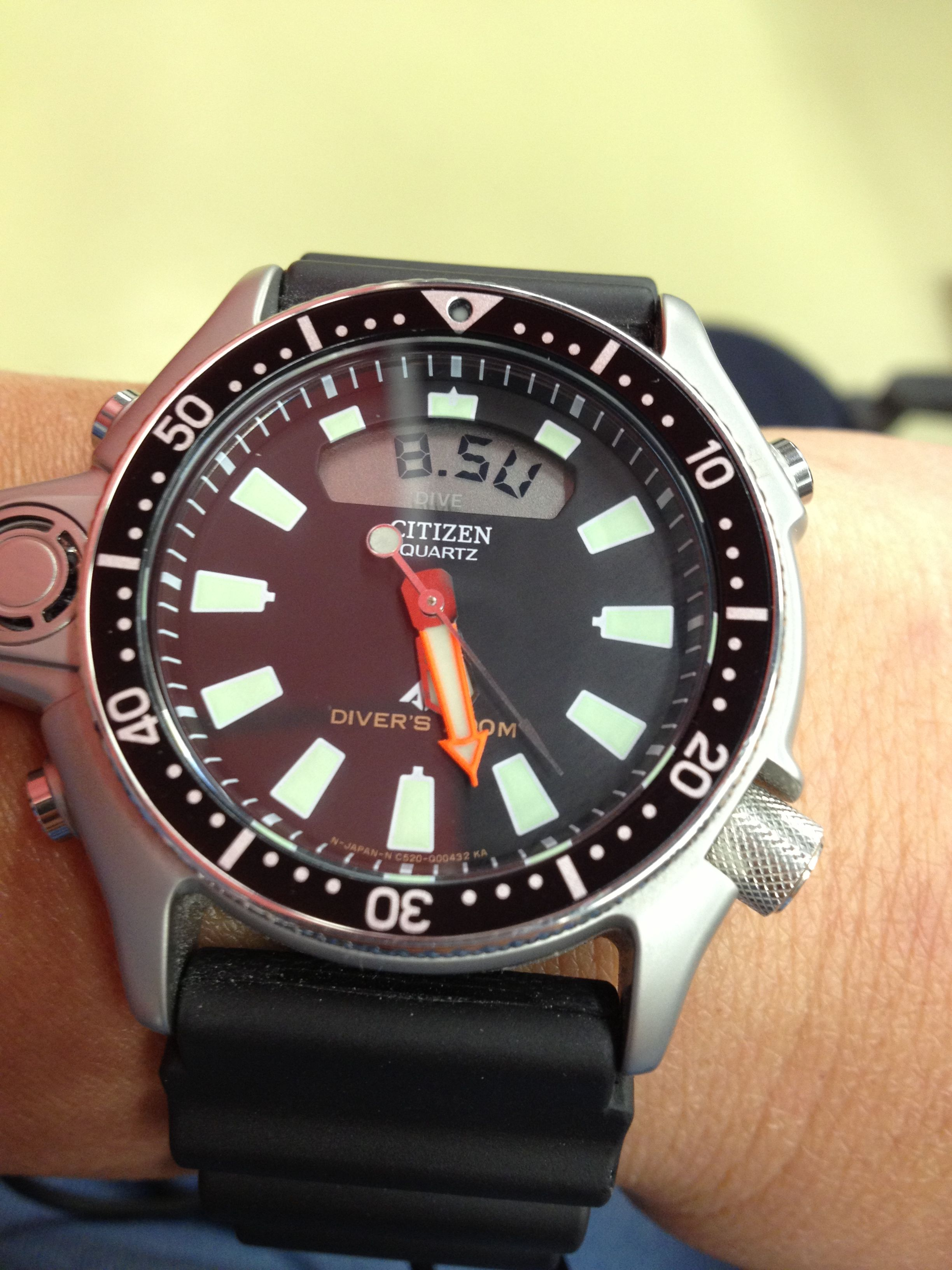 ffebb2679ce My very own Citizen Aqualand C520 dive watches Relógios Citizen