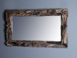 Afmeting Badkamer Spiegel : Spiegel drijfhout sloophout rechthoek. ook in vierkant en rond