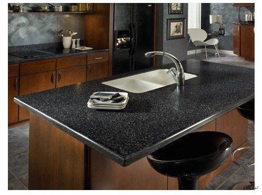 Solid Surface Countertop Sample In Merapi Non Porous Stains Do Not Penetrate The