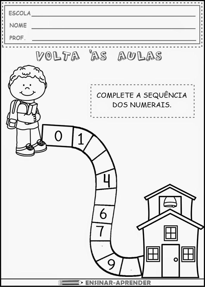 Atividades De Volta As Aulas Atividades Educacao Infantil