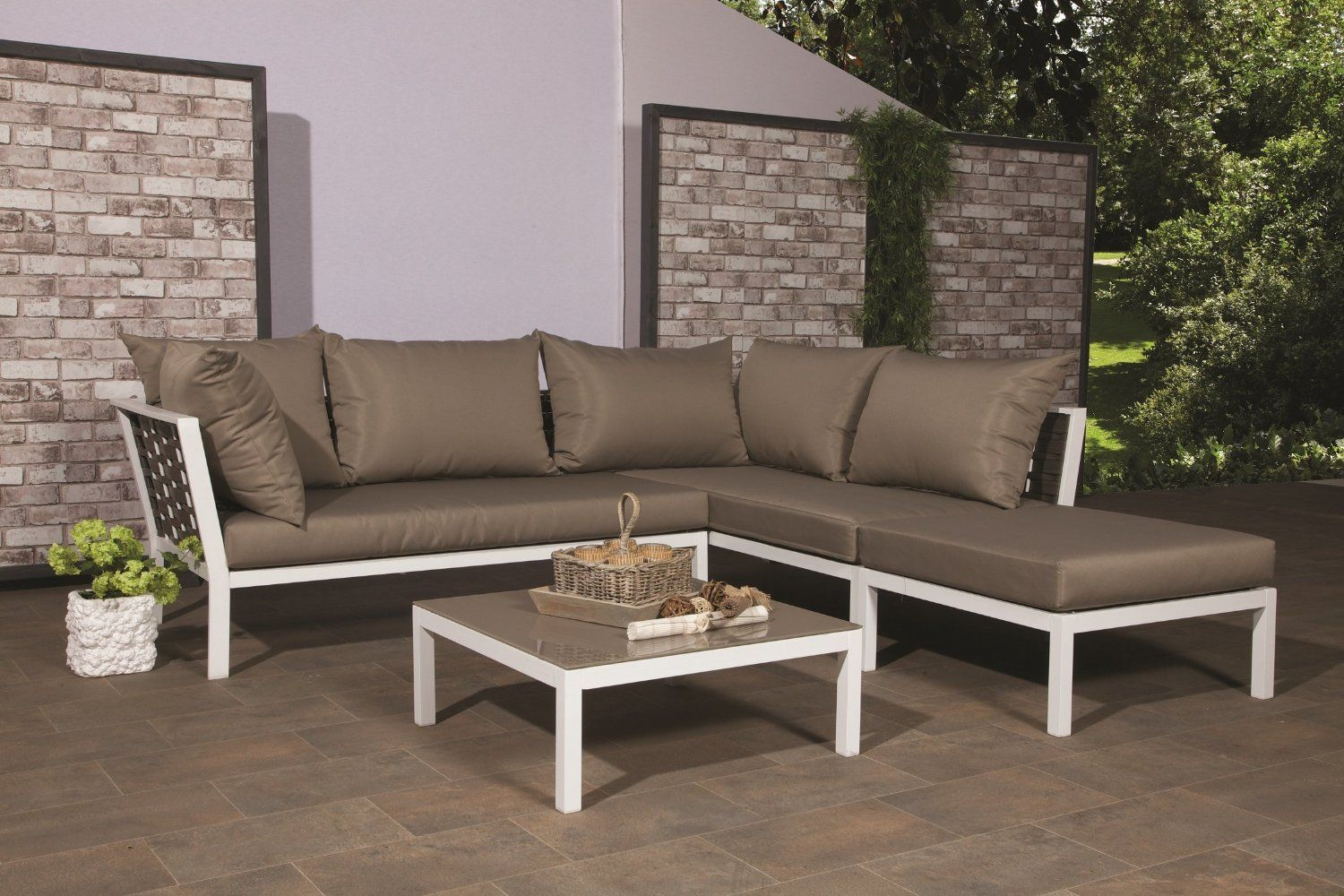 Amazon De Luxus Poly Rattan Lounge Sydney Weiss Inkl