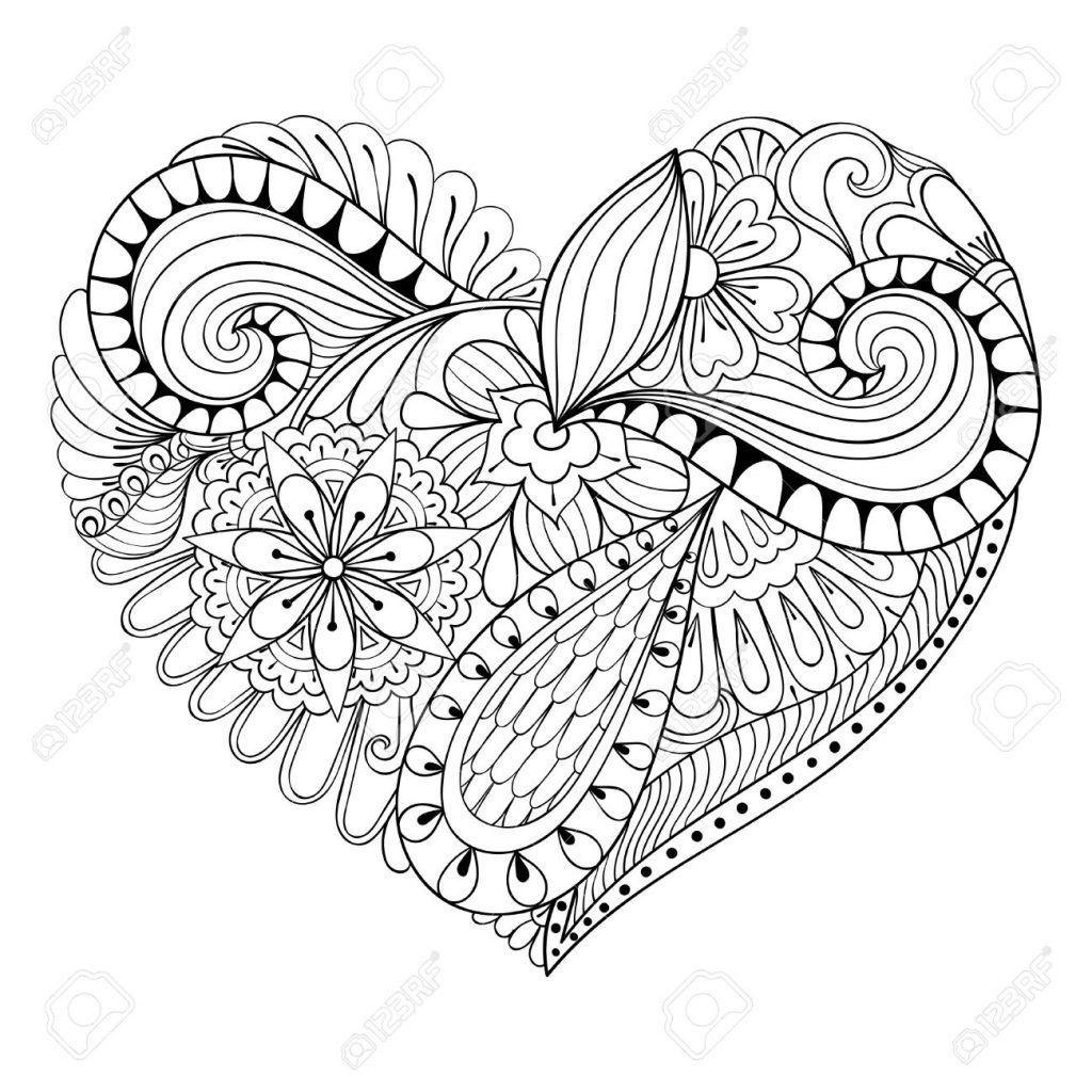 herz ausmalbilder  floral doodle doodle art posters