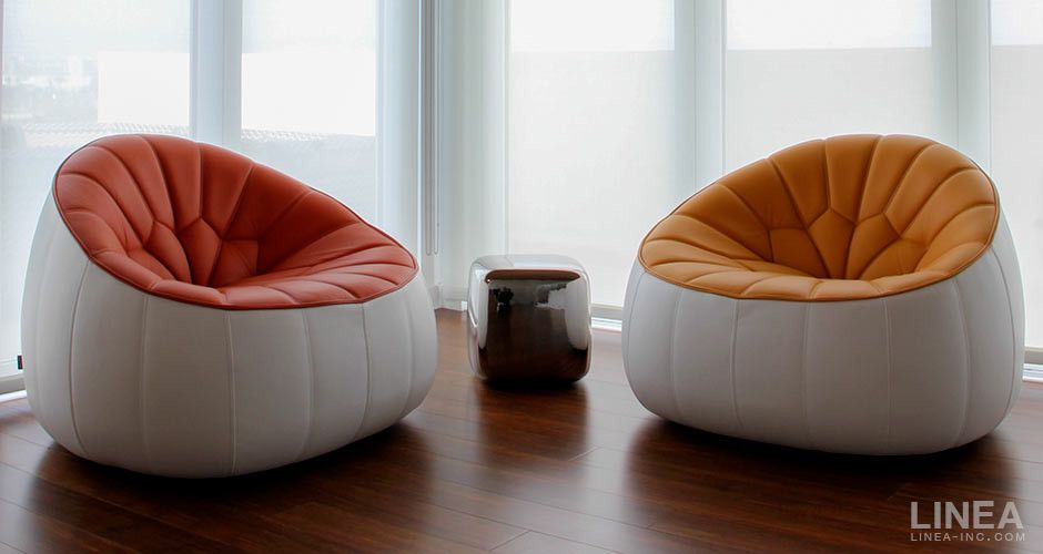 Ottoman Armchair by Ligne Roset Modern Lobby Seating Los Angeles ...