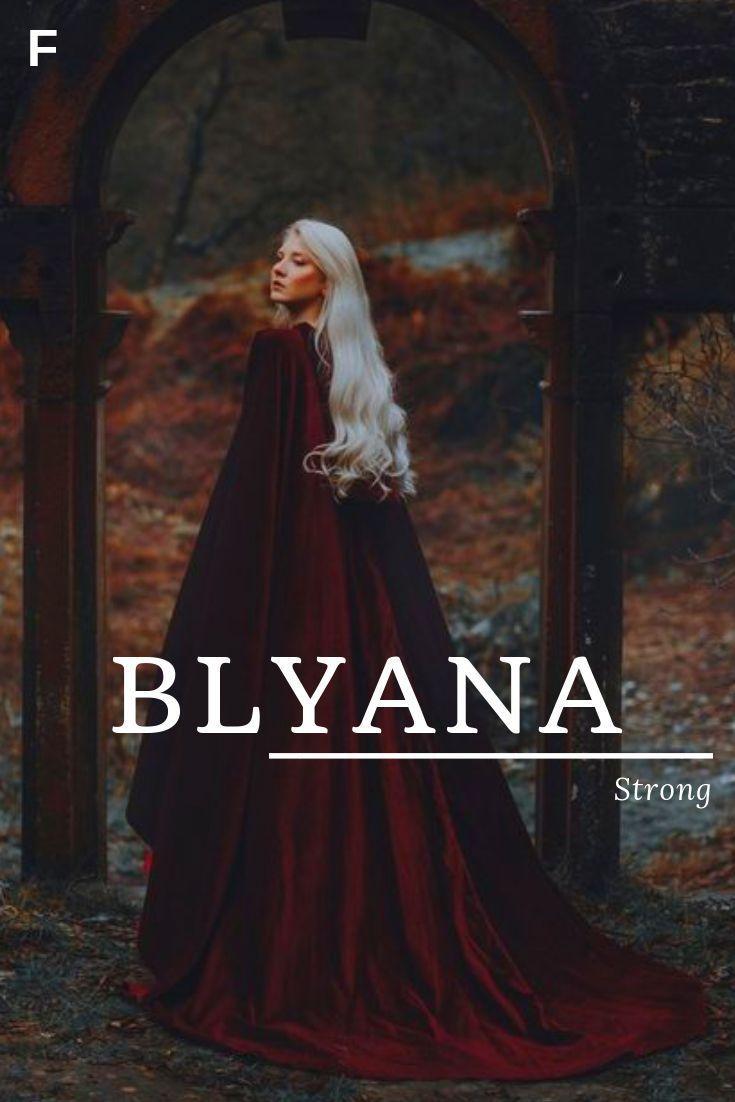 Blyana bedeutet Stark, irische Namen, B Babynamen, B Babynamen, weibliche Namen ..., #Babyna...