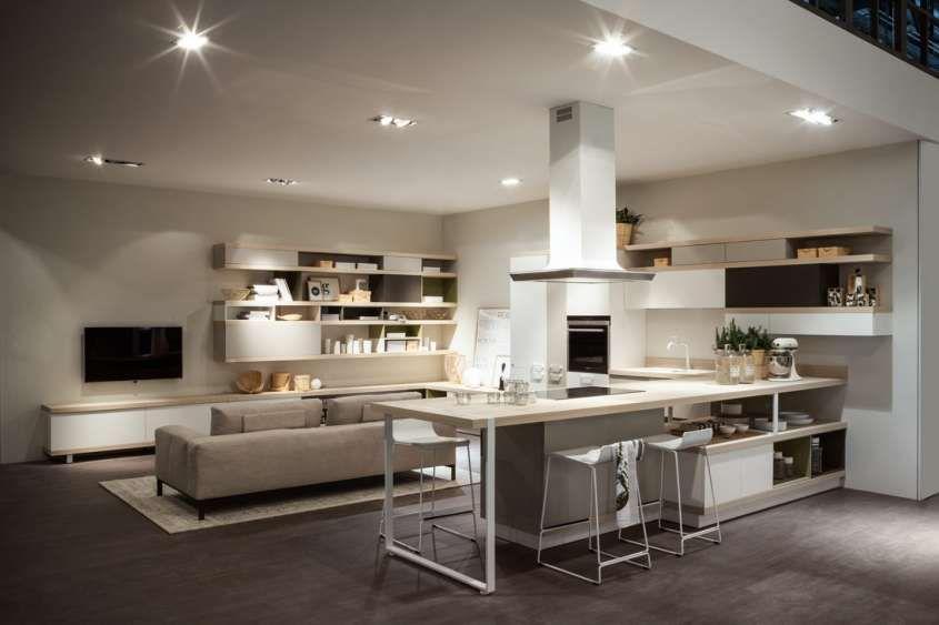 Sala Cucina Open Space.Cucina E Soggiorno Open Space Cucine Kitchens Nel 2019