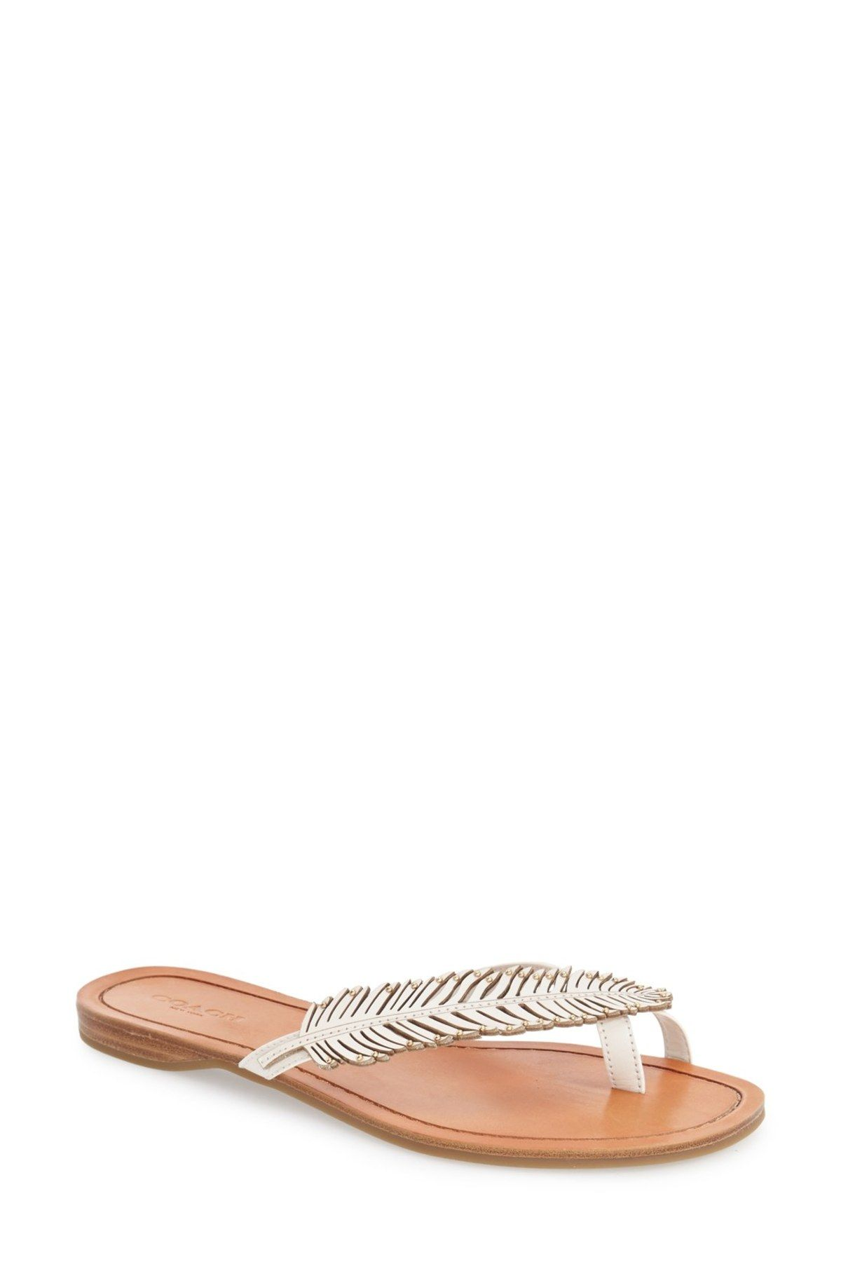 'Deni' Feather Flip Flop (Women)