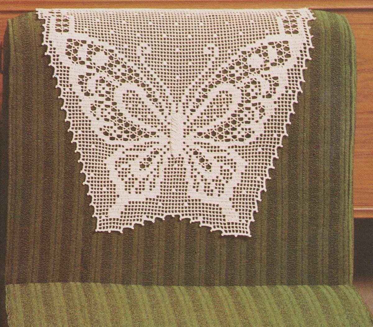 Crochet t ti re et napperon papillon tutoriel gratuit d coration au crochet pinterest - Modele de papillon ...