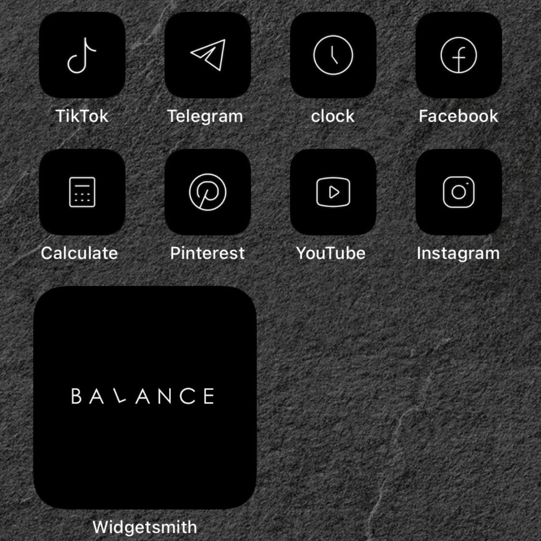 83 Black Ios 14 App Icons Dark Mode Widget Ios 14 Cover Widgetsmith Aesthetic Minimal Icon Iphone Apple Pack Icons Set Shortcut Aesthetic App Icon Black App Icon