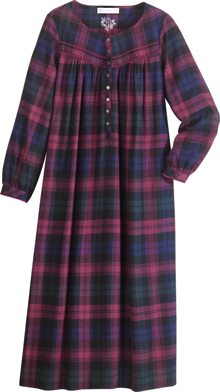 Flannel nightgown | nightgowns | Pinterest | Nightgown, Flannels and ...