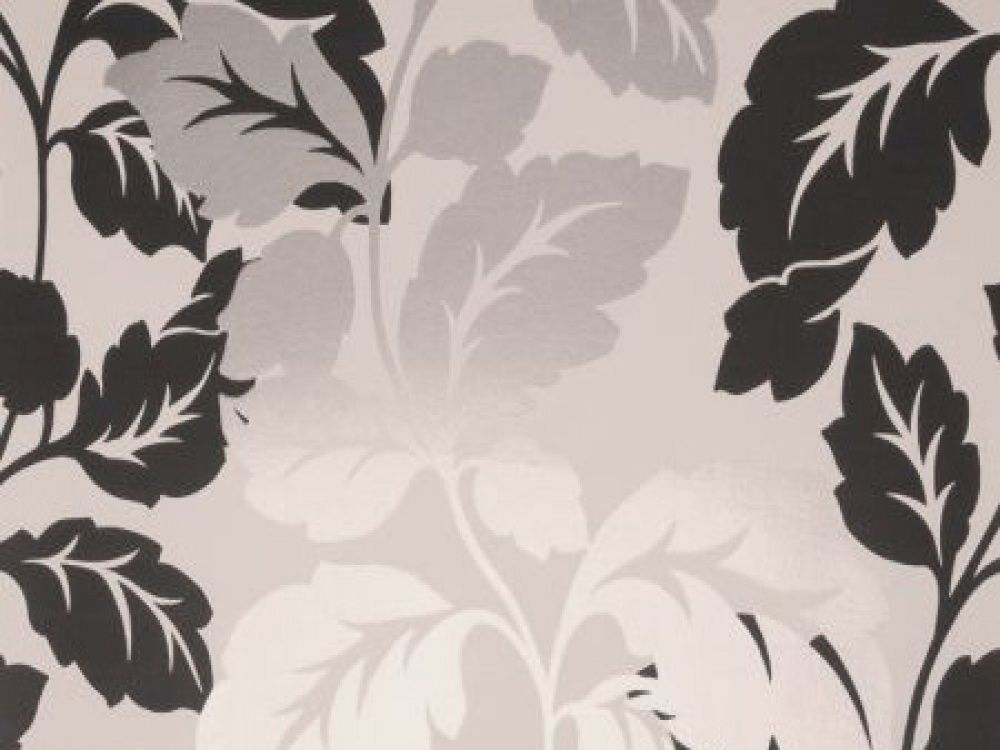 The Ornella Black White Floral Wallpaper Is Glamorous Luxurious - Wallpaper for walls black and white