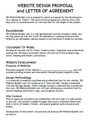 Image Result For Website Proposal Table Of Content Website