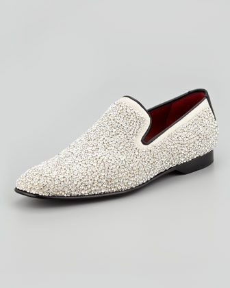b8a7e696358 Pascow Crystal-Beaded Loafer