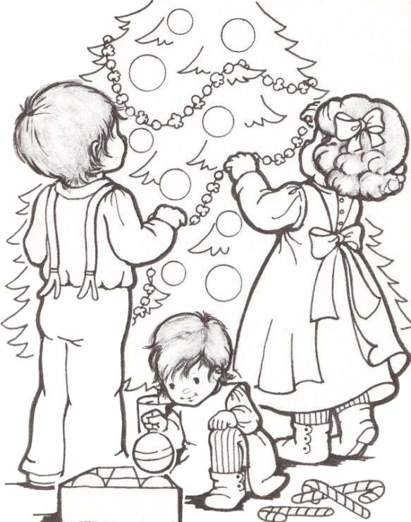 Kids and Xmas Tree Coloring Pages - Vintage Pinterest Xmas tree - new christmas tree xmas coloring pages