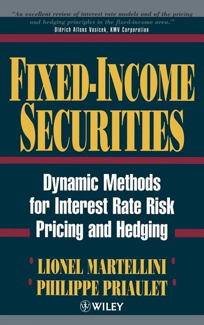 Dynamic methods for interest rate risk pricing and hedging.  Fixed-Income Securities provides a survey of modern methods forpricing and hedging fixed-income securities in the presence ofinterest rate risk. Modern theory of finance provides a wealth ofnew approaches to the important question of interest rate riskmanagement, and this book brings them together, in a comprehensiveand thorough treatment of the subject.  Structured in an accessible manner, the authors begin by focusingon pricing and h
