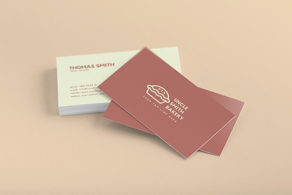 Minimal Bakery Business Card Bakery Business Cards Bakery Business Cards Templates Free Business Card Templates