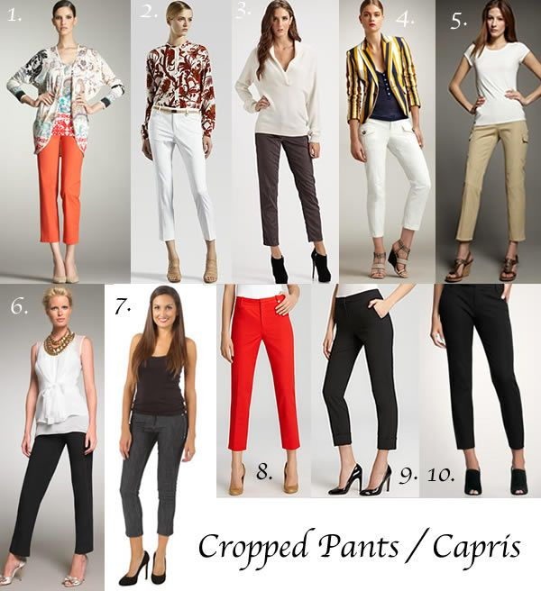 How to Wear Cropped Pants / Capris | FASHIONISTA - Capsule ...