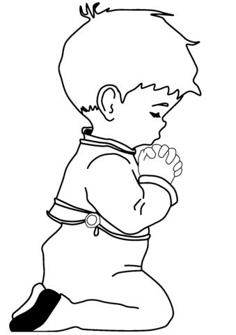 Resultado de imagen para imagen de niño orando a dios para colorear ...