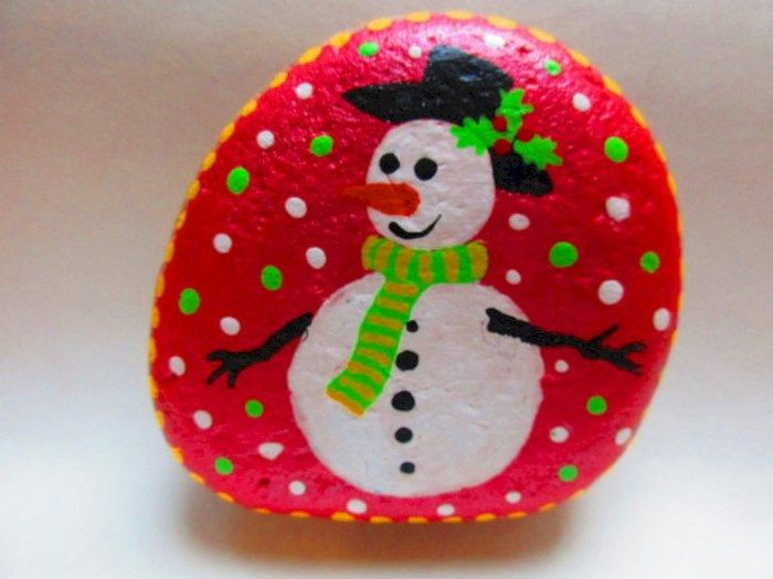 39 Beautiful Christmas Rock Painting Ideas is part of Diy christmas paintings, Painted rocks, Rock painting ideas easy, Christmas rock, Christmas paintings, Rock painting patterns - If you are looking for some new projects that you can do it in your free time, rock painting is the answer  These project is so simple, unique and of course inexpensive  This is something that could be easily obtained and could potentially bring out your creative side  Those exact rocks could make the whole place a little artsy