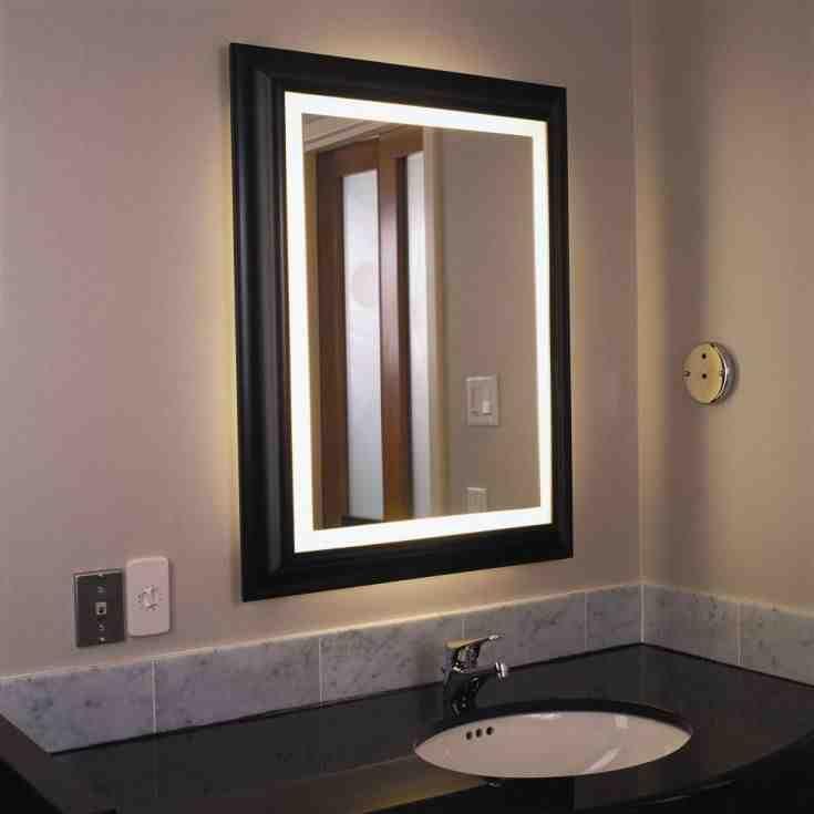 Lighted Bathroom Wall Mirrors Bad Wand Wandspiegel Modern