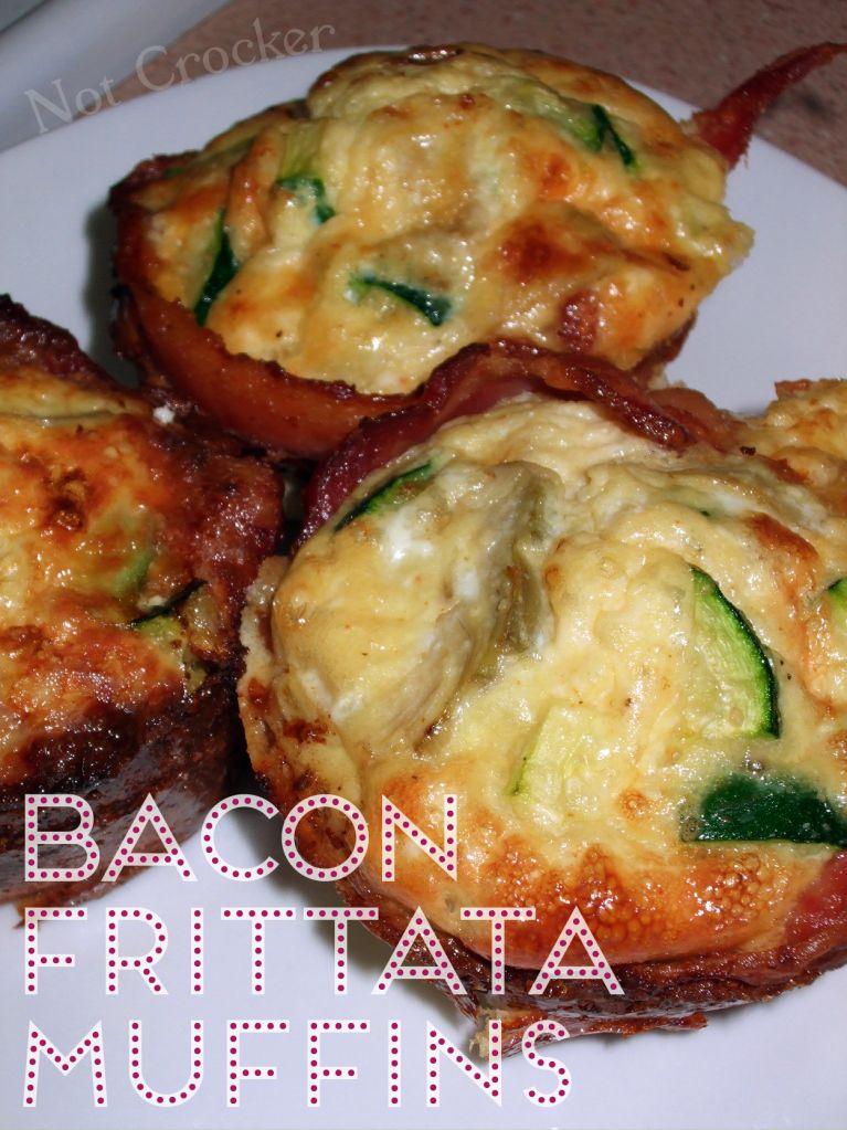 Bacon Frittata Muffins Paleo Friendly #baconfrittata