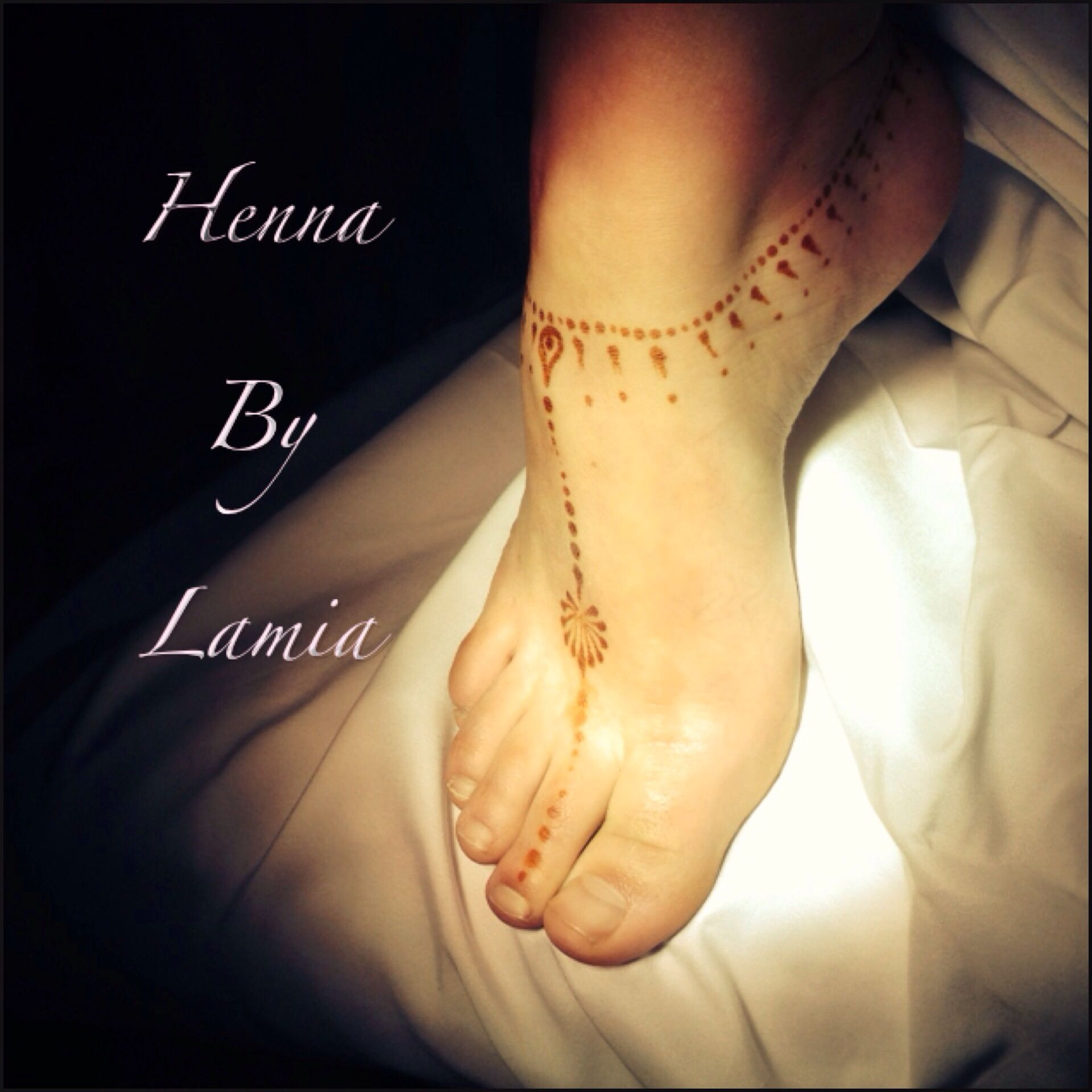 Foot Henna Tattoo Prices: Simple Henna Anklet